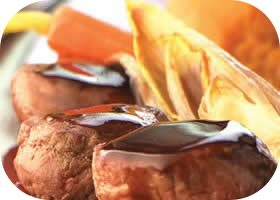 reefilet met mousse van zoete aardappelen