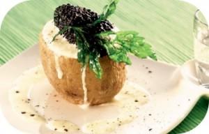 Aardappel met kaviaar