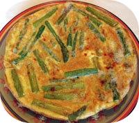Roereitje met aspergekoppen
